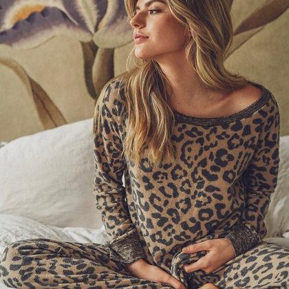 Leopard Lounge Sweater