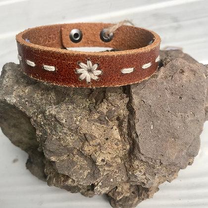 Floral Stitched Bracelet