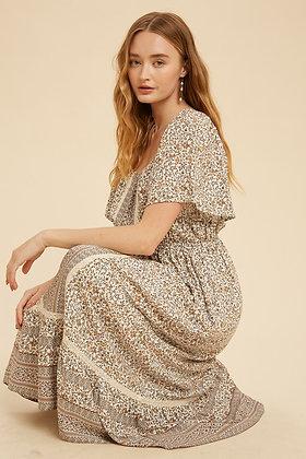Flutter away Midi Dress