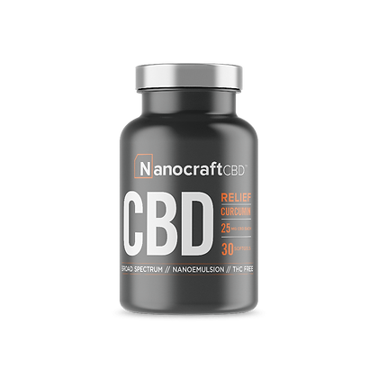 CBD Capsules With Curcumin Broad Spectrum
