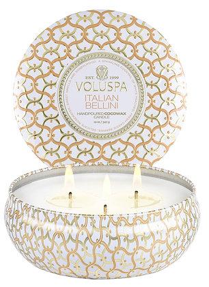 Volspa Italian Bellini 3 Wick Candle
