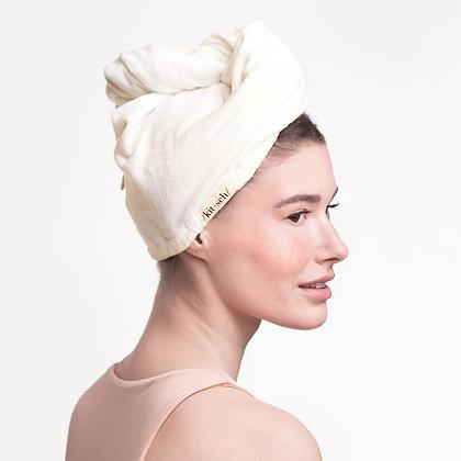Eco-Friendly Microfiber Hair Towel - Ivory