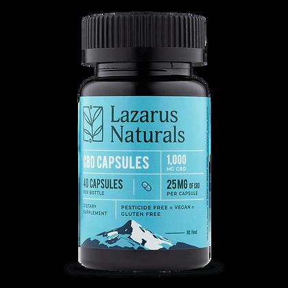 Lazarus Naturals 25mg CBD Capsules, 40 Count