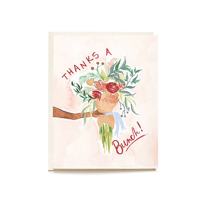 Floral Bunch Thank You Card