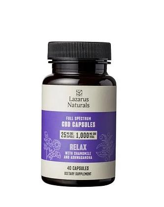 Relaxation CBD Capsules 25mg 40ct