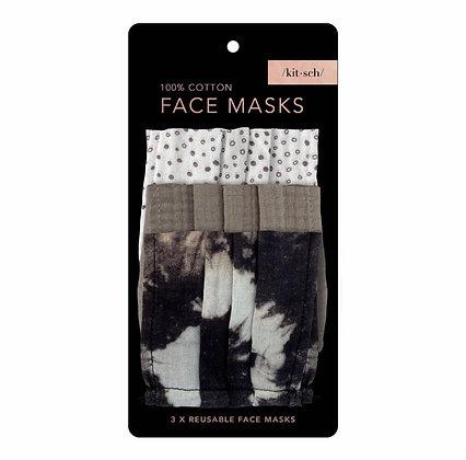 Cotton Mask 3pc Set - Neutral Kitch