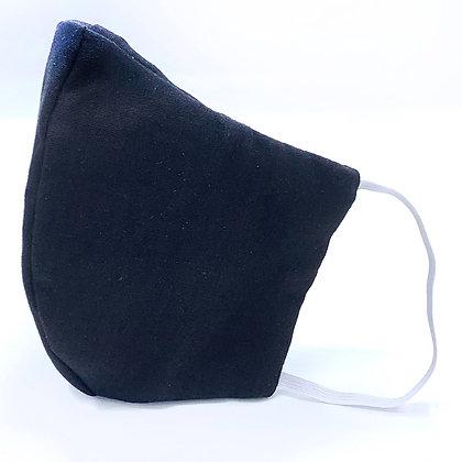 Black Face Mask with Filter Pocket