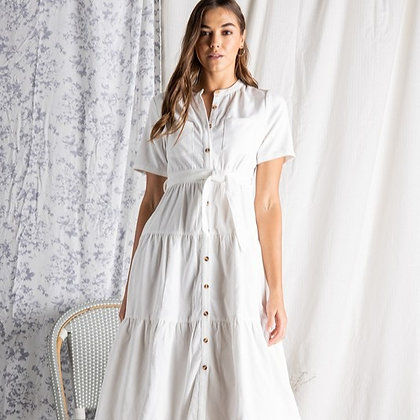 Aria Tiered Shirt Dress