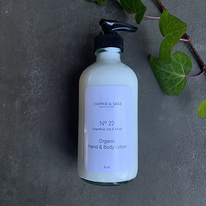 No.22 Organic Hand and Body Lotion