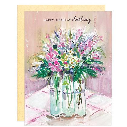 Happy Birthday Darling Greeting Card