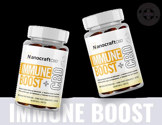 Immune Boost + CBD Softgels -NanocraftCBD