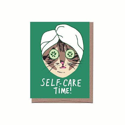 Self Care Cat Card