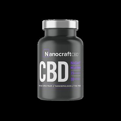 Night CBD Capsules with Melatonin NanocraftCBD