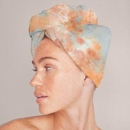 Microfiber Hair Towel - Sunset Tie Dye