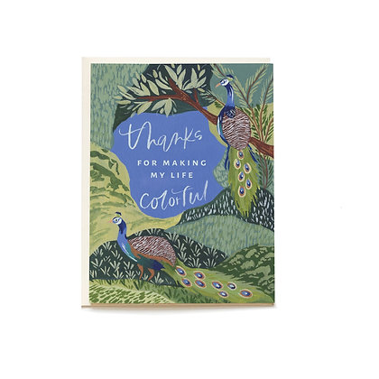 Colorful Life Greeting Card