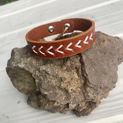 Skinny Hand Stitched Bracelet