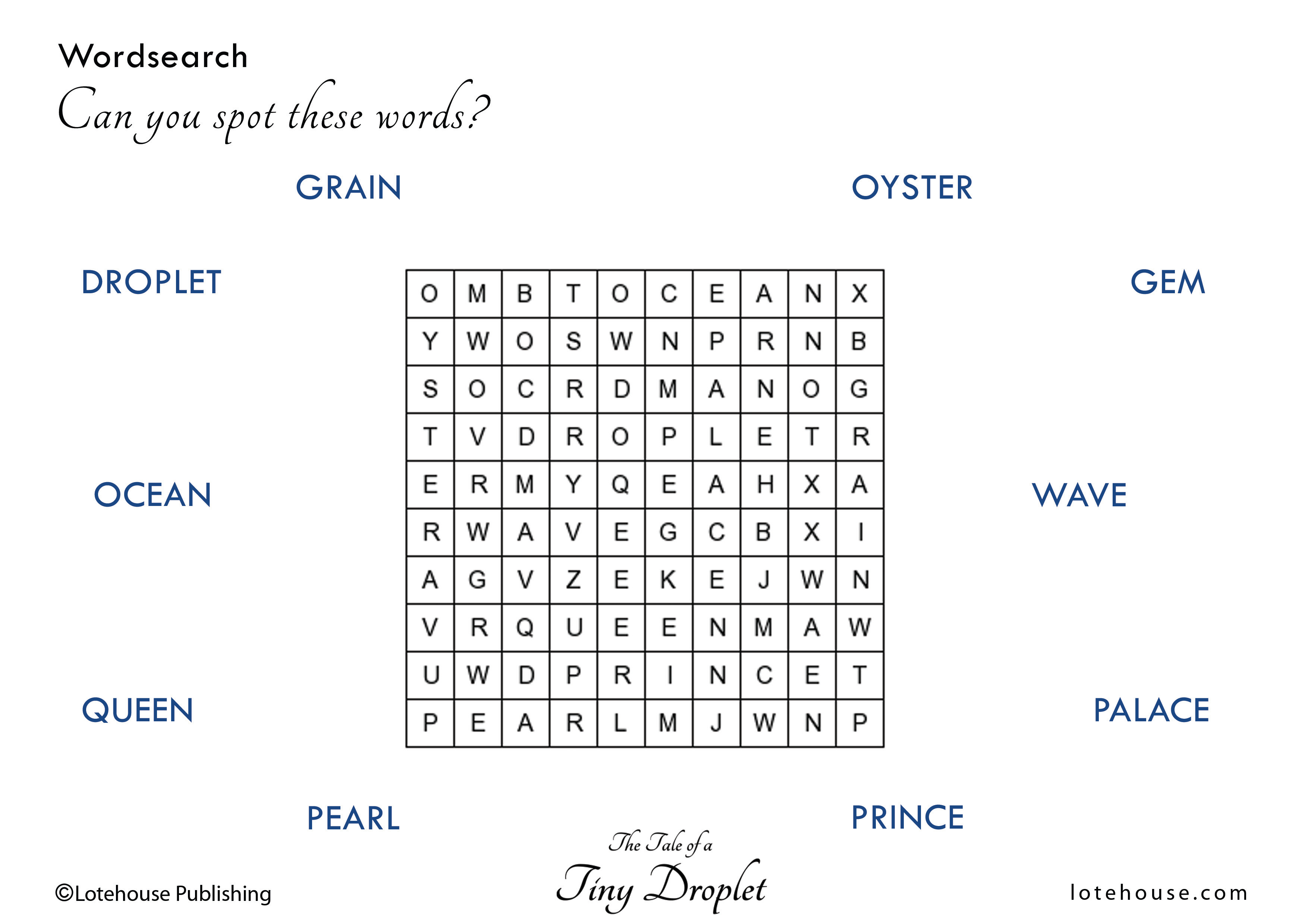 Word Search_Tiny Droplet