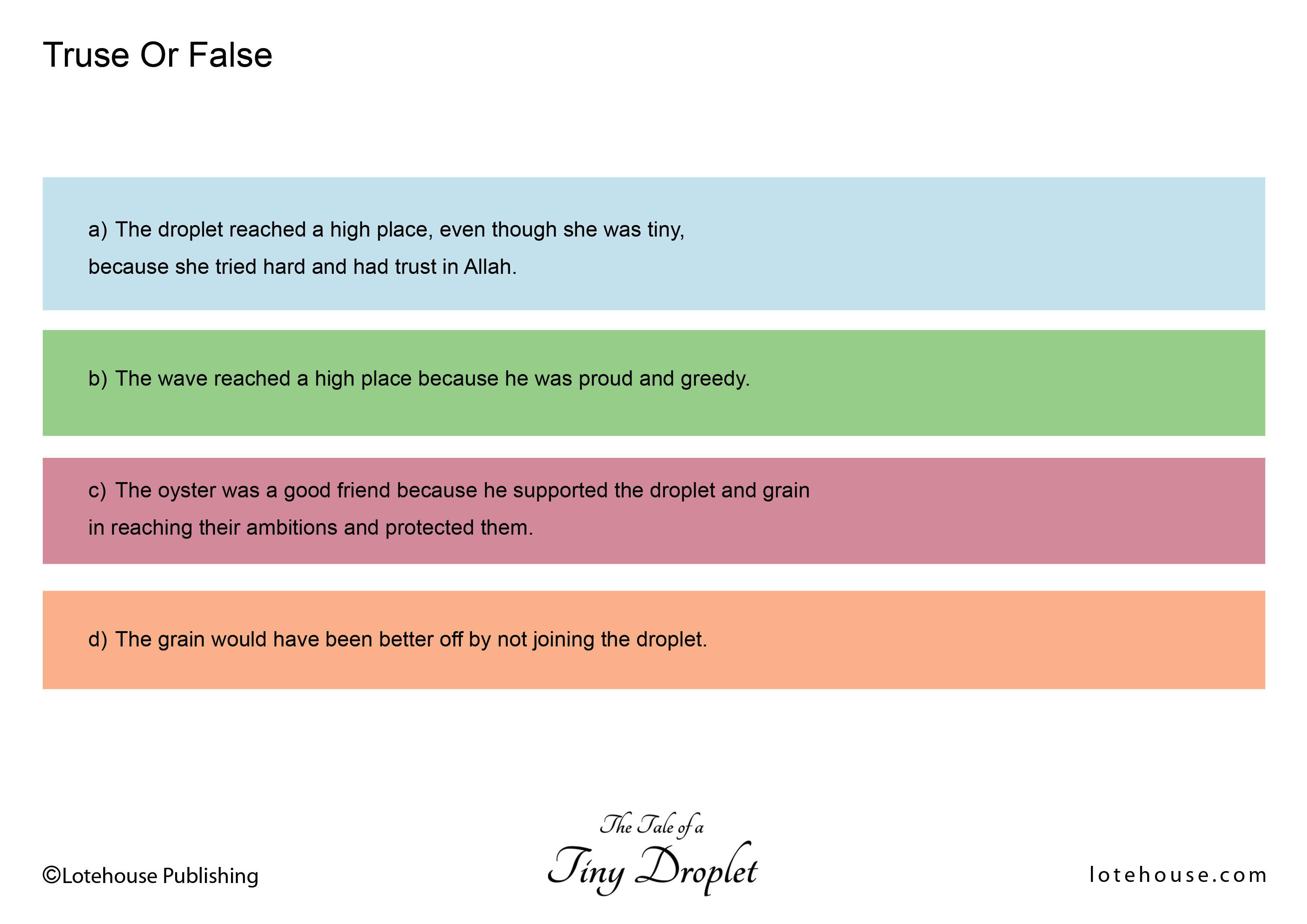 True or False_Tiny Droplet