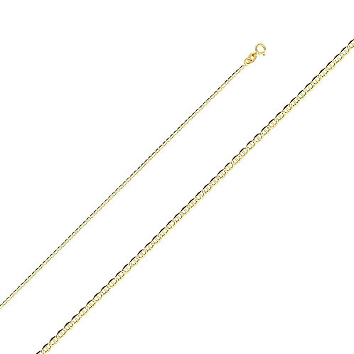 14k Yellow Gold 1.4-mm Mariner Chain Necklace