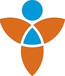 Image symbolique d'un corps bleu et orange