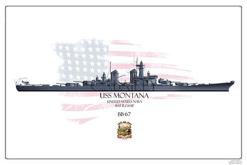 USS Montana Late MS-21 BB-67