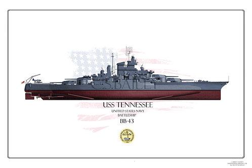 USS Tennessee BB-43 1944 FH BB-43 Print
