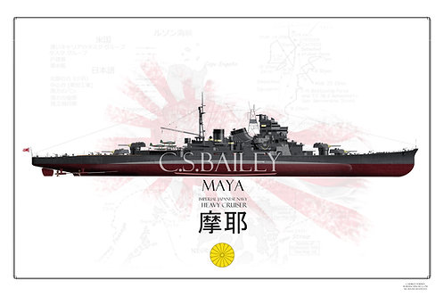 IJN Maya FH print