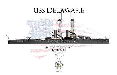 USS Delaware  BB-28  1918 WL T-shirt