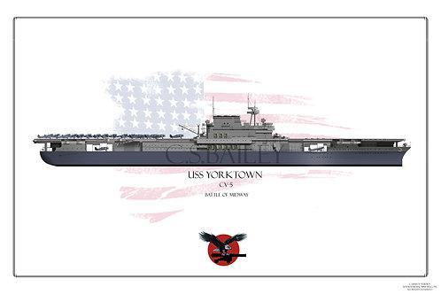 USS Yorktown CV-5 WL Print