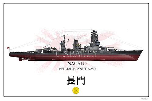 IJN Nagato FH Print