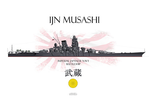 IJN Musashi WL t-shirt