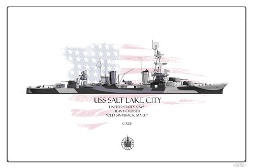 USS Salt Lake City CA-25 Dazzle WL Print