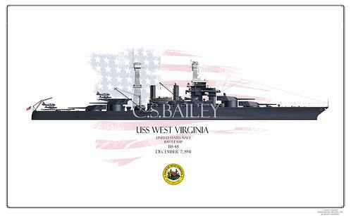 USS West Virginia 1941WL BB-48