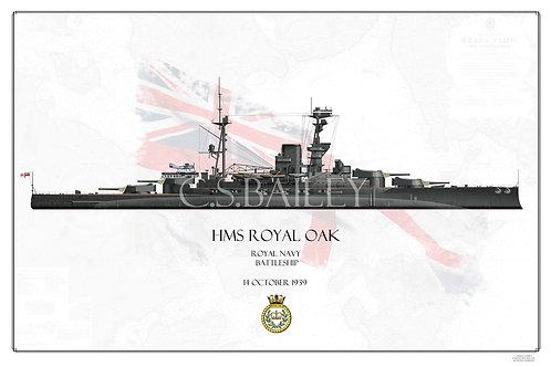 HMS Royal Oak WL print