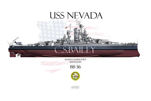 USS Nevada BB-36 MS-22 FH 1944