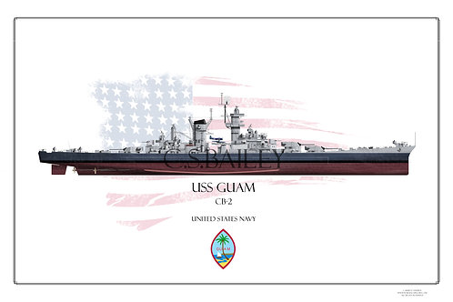 USS Guam MS 22 FH Print