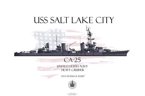 USS Salt Lake City MS21 WL T-shirt