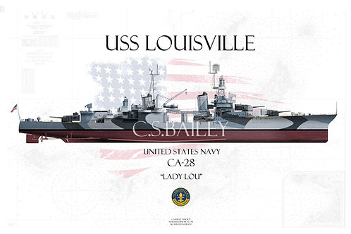 USS Louisville CA-28  Dazzle FH T-shirt