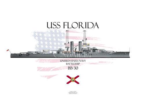 USS Florida BB-30 T-shirt