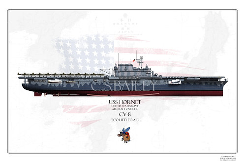 USS Hornet CV-8 Doolittle raid FH Print