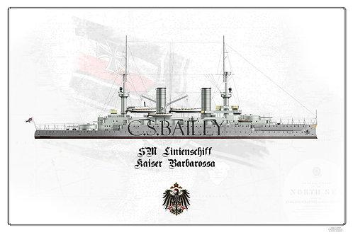 SMS Kaiser Barbarossa WL Print