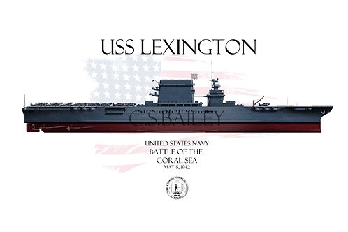 USS Lexington CV-2 FH MS-21 t-shirt