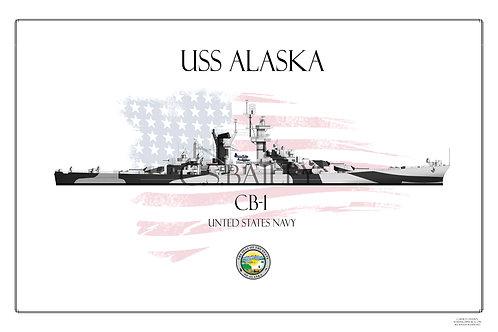 USS Alaska CB-1 Dazzle print