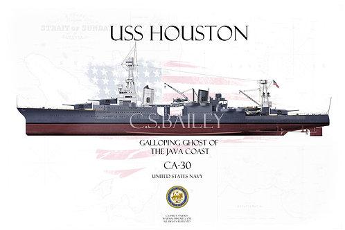 USS Houston CA-30 MS1 Mod FH T-shirt
