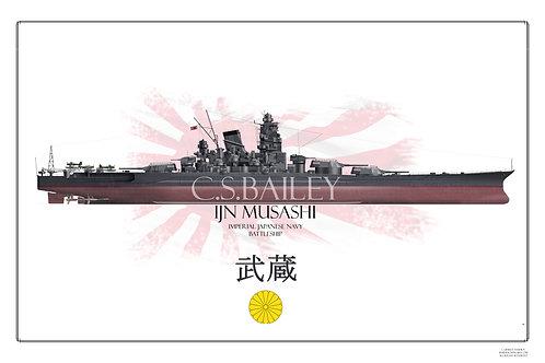 IJN Musashi FH print