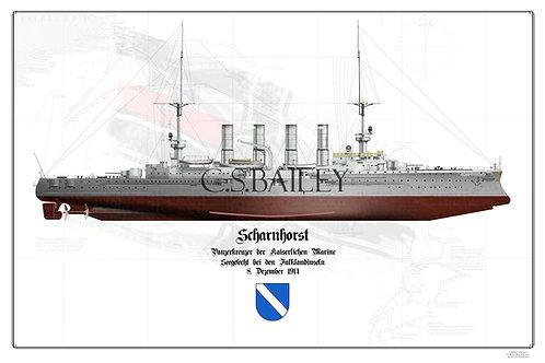 SMS Scharnhorst FH Print