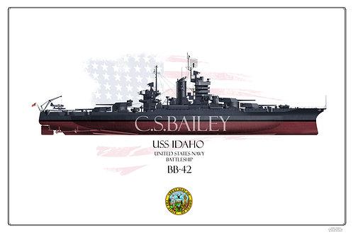 USS Idaho BB-42 FH Print