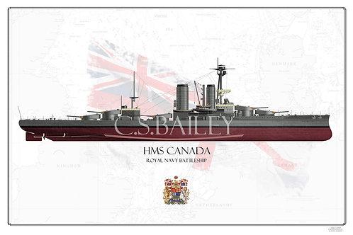 HMS Canada FH  print