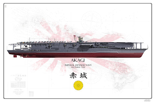 IJN Akagi Battle of Midway FH Print