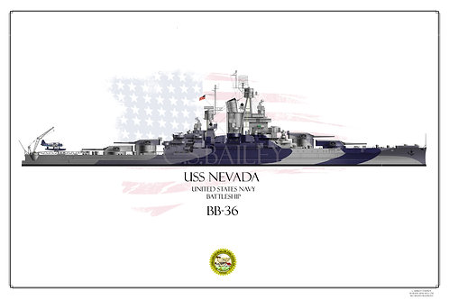 USS Nevada Dazzle Print